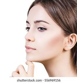 Beautiful sensual woman face..