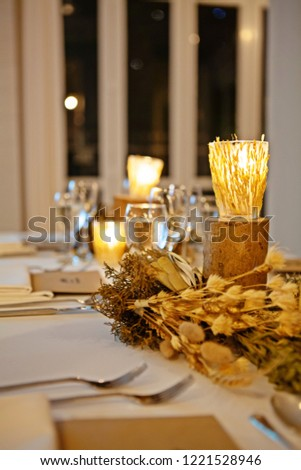 Beautiful Served Table Rustic Vintage Table Stock Photo Edit Now