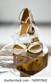Beautiful set of women's and groom's wedding accessories.