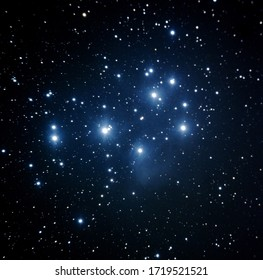 The beautiful seven sister/pleiades star cluster