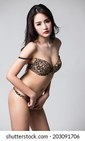 Sexy asian woman lingerie simply