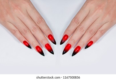 Ombre Nails Images Stock Photos Vectors Shutterstock