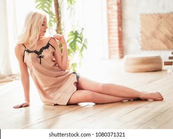 Beautiful sexy blonde girl