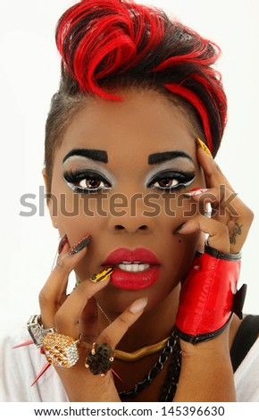 Women black beautiful sexy