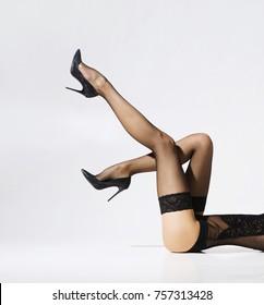 stockings Rope girl nylon white