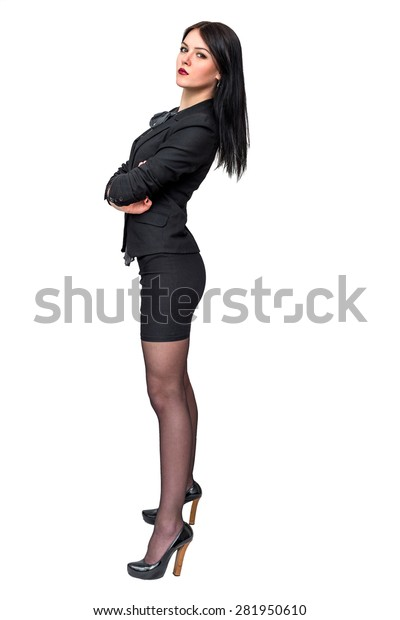 a7733063cc4726 Beautiful Sexy Girl Office Clothes On Stock Photo (Edit Now) 281950610