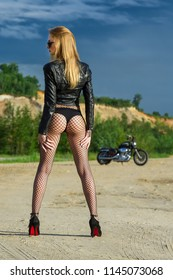 Sexy ass on motorcycle