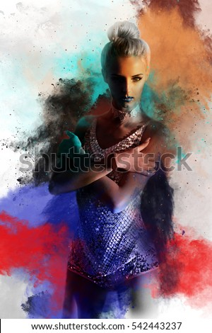 Beautiful Sexy Girl Wallpaper Dust Splash