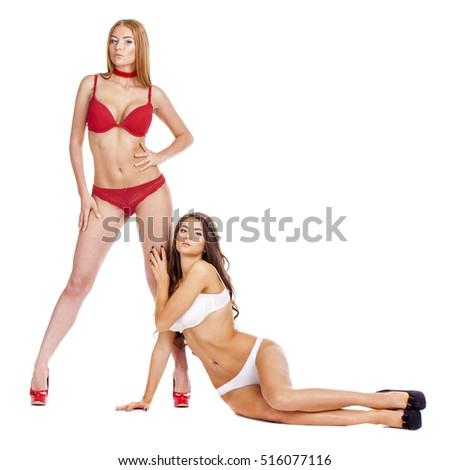 Nøgne brunette modeller