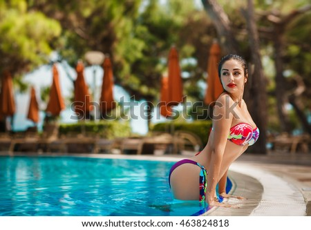 Erotic girls underwater in pool