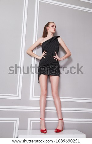 Beautiful Sexy Young Business Woman Brunette Stock Photo Edit Now