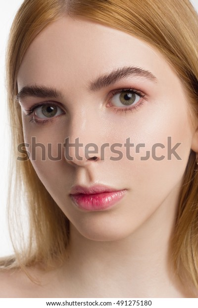Beautiful Sexy Young Women Naked Cosmetics Stock Photo