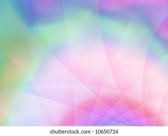 Beautiful shades of blue, purple, pink and green make up this softly attractive fractal background.