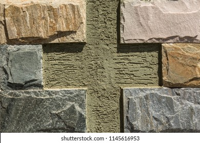 Beautiful shades of granite on the wall