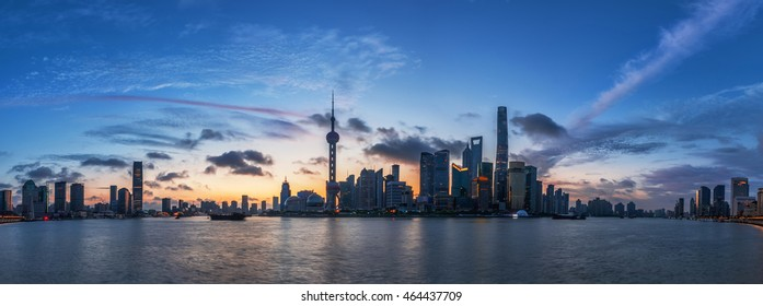 Beautiful Shanghai the Bund dawn