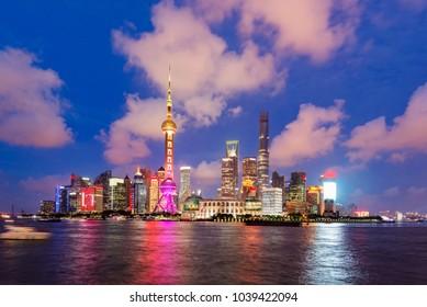Beautiful Shanghai Pudong skyline