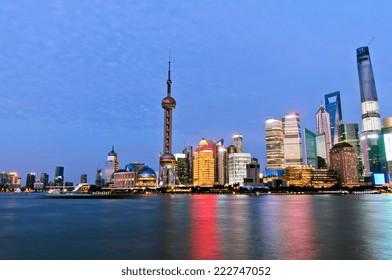 Beautiful Shanghai Urban landscape at night