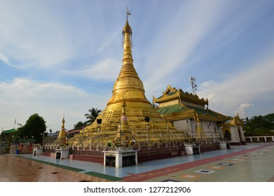 The beautiful She San Daw pagoda in Ye, Myanmar.