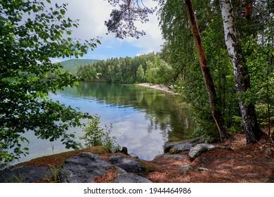 Beautiful shore of Lake Turgoyak.