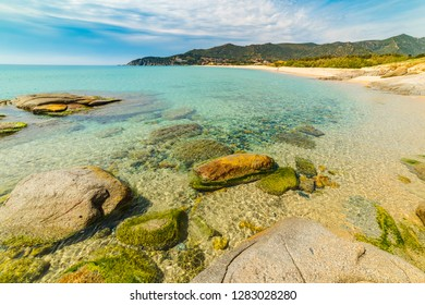 Beautiful shore in Villasimius. Sardinia, Italy