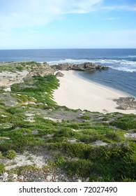 Beautiful Shoreline with Arch on Rottnest Island, Australia