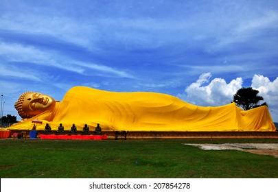 beautiful shot of big buddha at ko yor songkla thailand