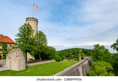 Beautiful shot of the iconic Sparrenburg, the castle dominating the German city of Bielefeld