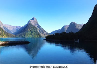 Beautiful shot of Milford Sound on a Great Day