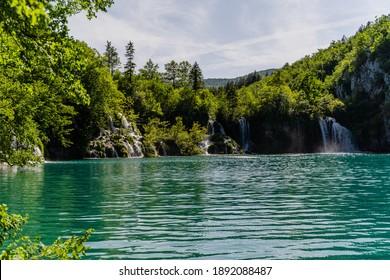A beautiful shot of Plitvice Lakes, Croatia