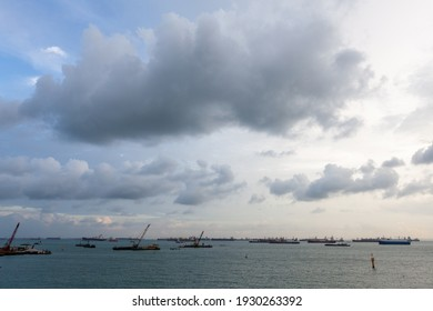 A beautiful shot of a sea at cloudy day