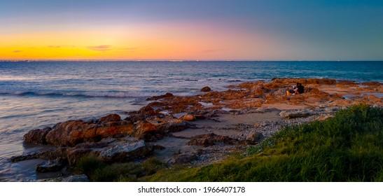 A beautiful shot of seashore, edited in Lightroom