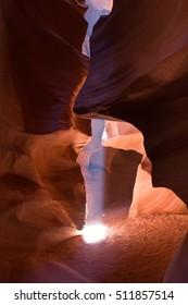 A beautiful shot of the Slot Antelope Canyons in Arizona, US