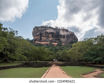 The beautiful Sigiriya rock, Shri lanka,  has once been a palace and fortress complex. It attracts thousands of tourists every year.