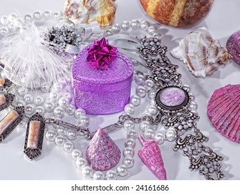 Beautiful silver bijou and pearls