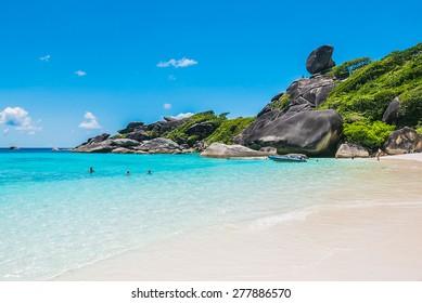 Beautiful Similan rock island at andaman sea in phuket Thailand