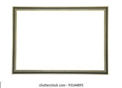 Beautiful, simple and elegant picture frame isolated on a pure, clean white background.