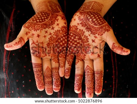 Beautiful Simple Henna Mehndi Mehindi Design Stock Photo Edit Now