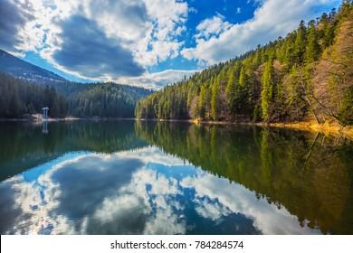 beautiful sinevir lake, Carpathians Ukraine