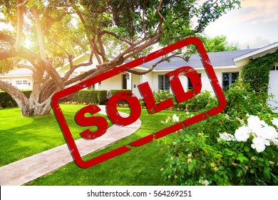 Beautiful single family home with red sold stamp overlay