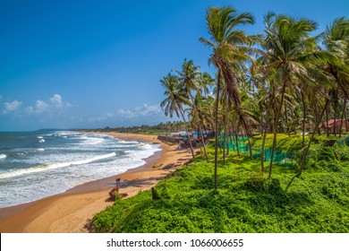 Beautiful Sinquerim Beach of Goa, Famous tourist destination, Goa, India