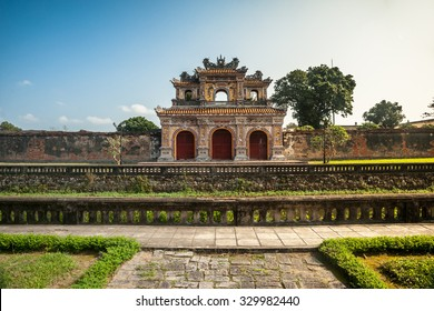 Beautiful site of Citadel in Hue, Vietnam. Citadel in Hue is enlisted in UNESCO World Heritage Sites. Travel photography for Southeast Asia.