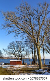 Beautiful skerry coast at the Baltic Sea in winter, near Karlskrona, Sweden.