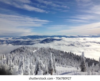 Beautiful ski mountain slope