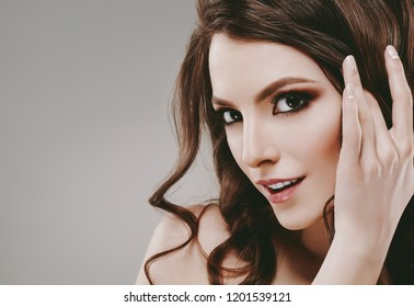 Beautiful skin face woman healthy skin and beauty hair