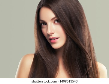 Beautiful skin woman healthy hair and beauty fashion make up female model