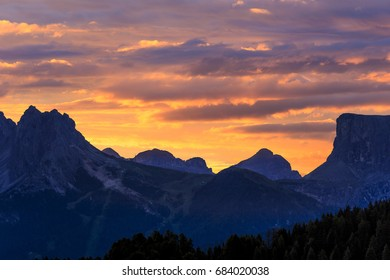 beautiful sky above dolomite mountain