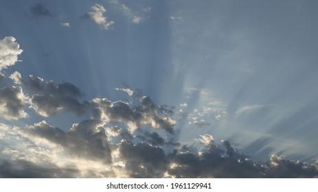 Beautiful sky after storm, spring 2021