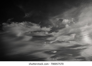 Beautiful sky in black and white style