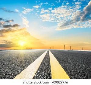 Beautiful sky cloud and asphalt road landscape