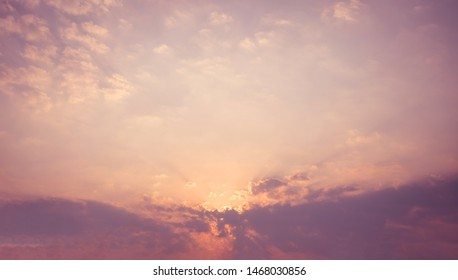Beautiful sky with cloud before Sunset Sunrise.